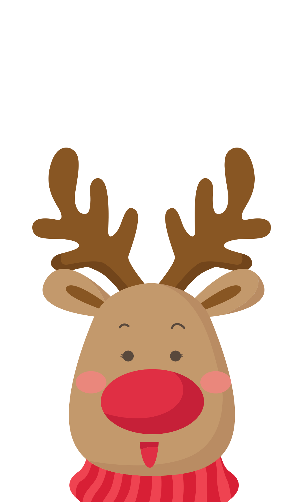 Clipart reindeer modern. Inkess