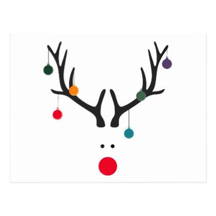 Funny abstract christmas on. Clipart reindeer modern