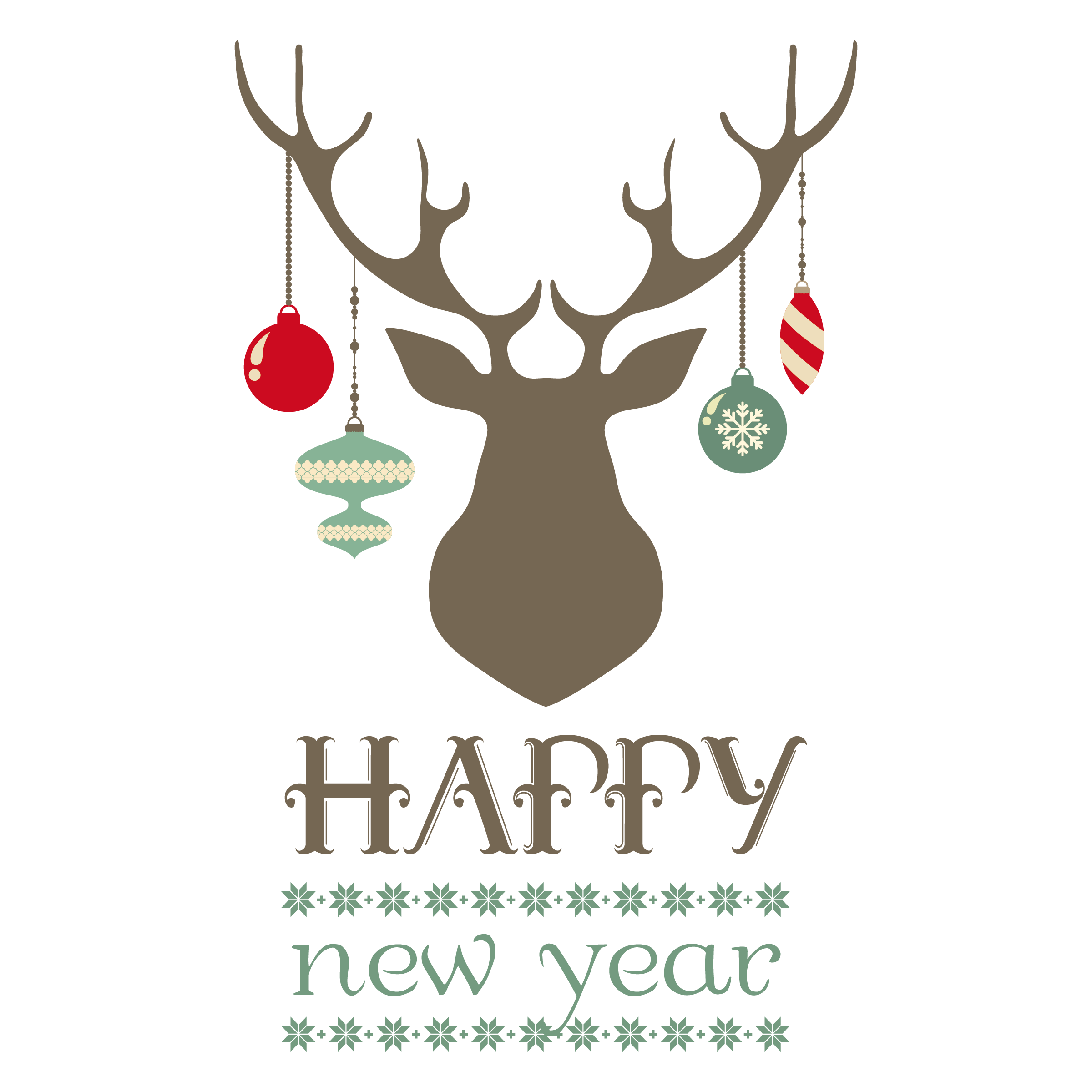 Christmas course printables placemats. Clipart reindeer modern