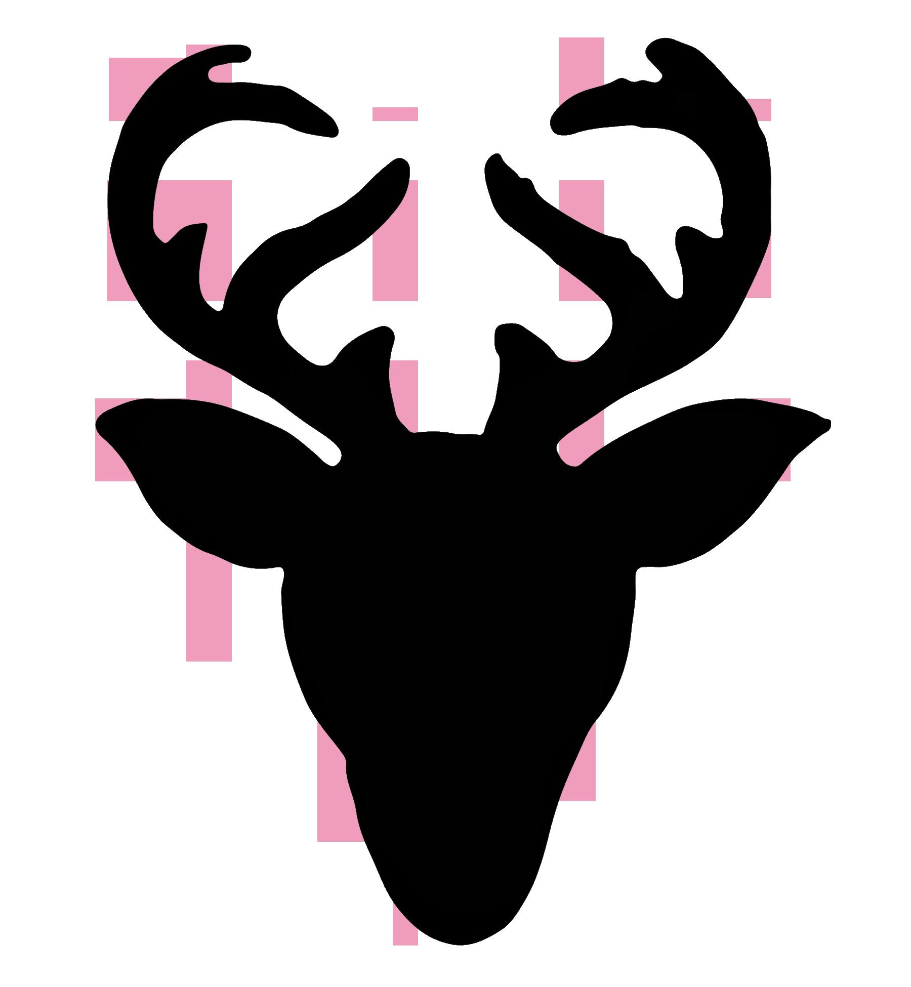 Silhouette at getdrawings com. Clipart reindeer moose head
