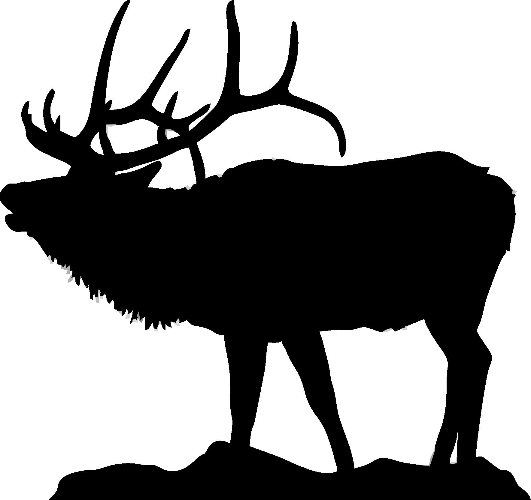 Clipart reindeer moose head. Elk silhouette clip art