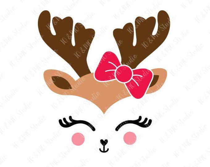 Clipart reindeer ornament antler clipart. Svg head clip art