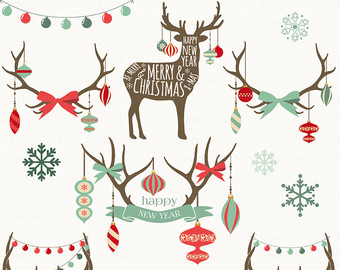 Clipart reindeer ornament antler clipart. Free antlers christmas cliparts