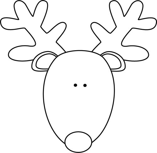 Free rudolph cliparts download. Clipart reindeer outline