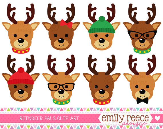 Clip art library . Clipart reindeer party