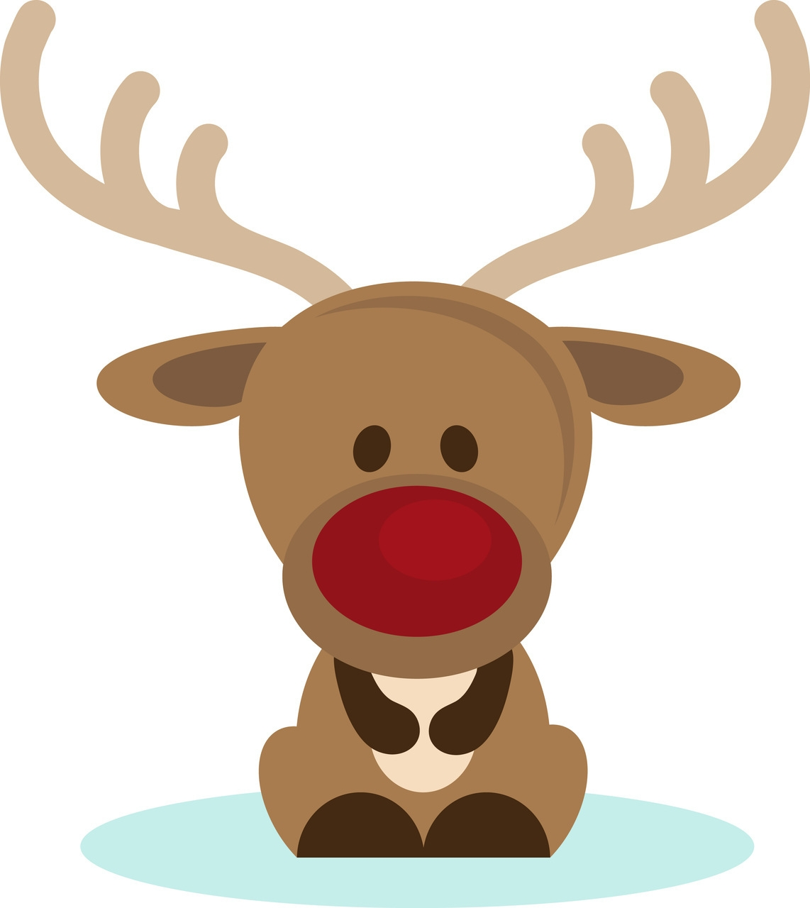 Cute christmas wikiclipart . Clipart reindeer pretty