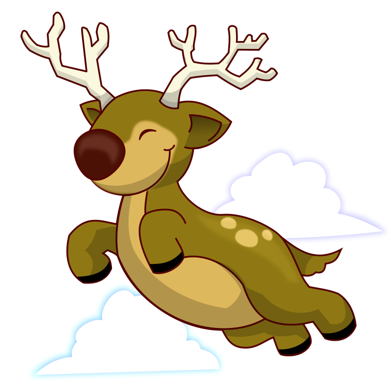 clipart reindeer public domain