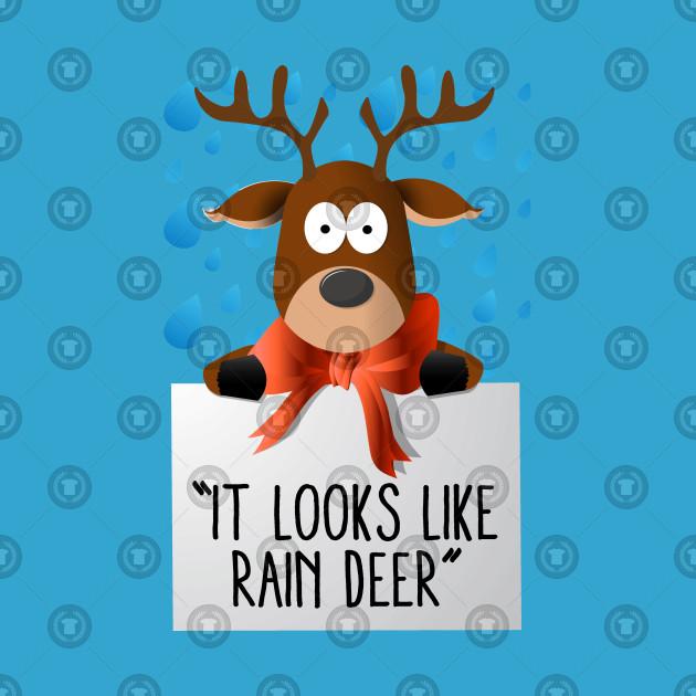 Christmas deer funny . Clipart reindeer rain