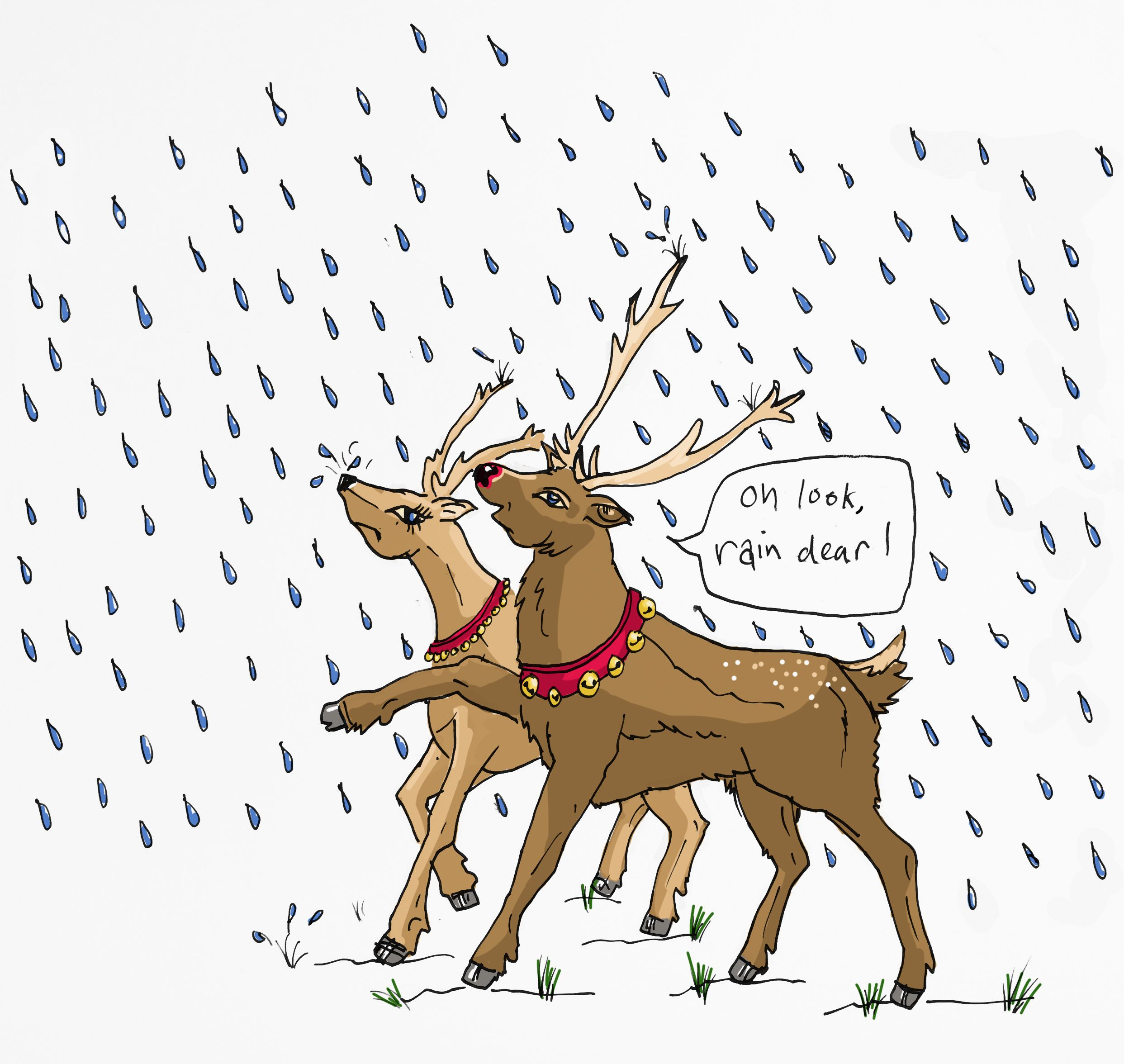 Look there s some. Clipart reindeer rain