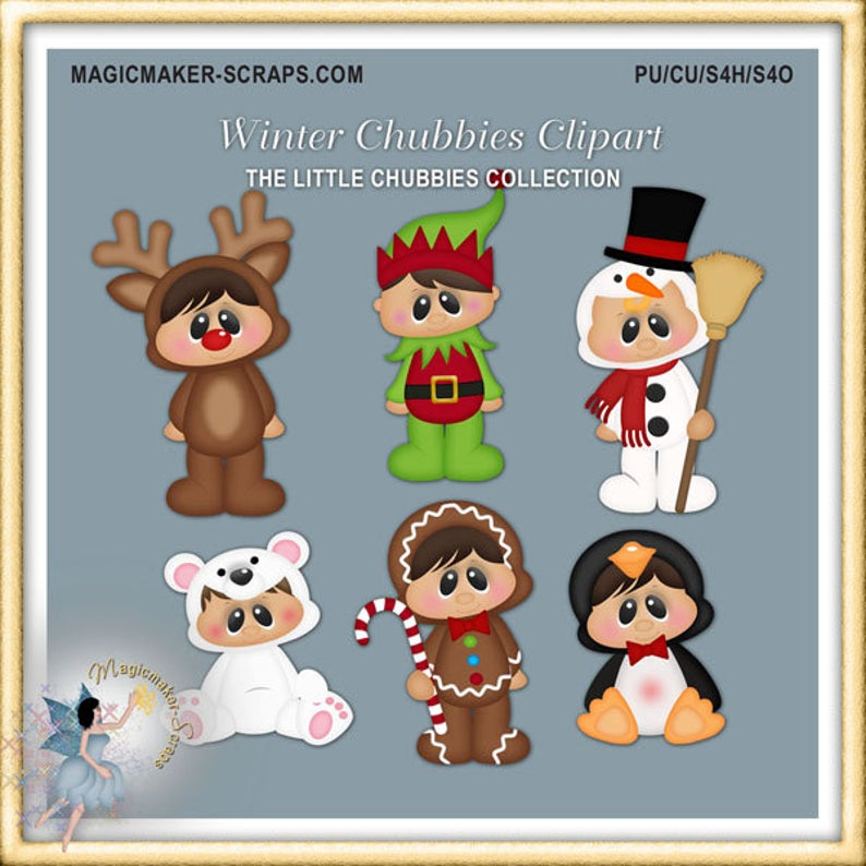 Christmas baby winter chubbies. Clipart reindeer reindeer costume