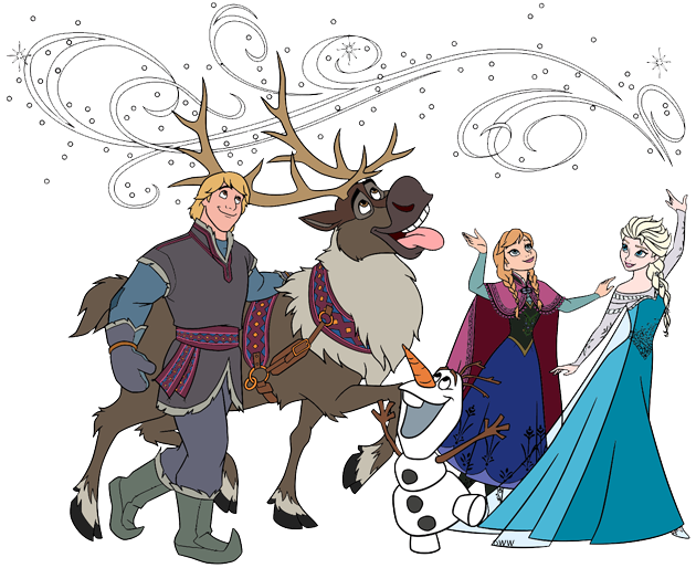 Frozen clip art disney. Olaf clipart line drawing