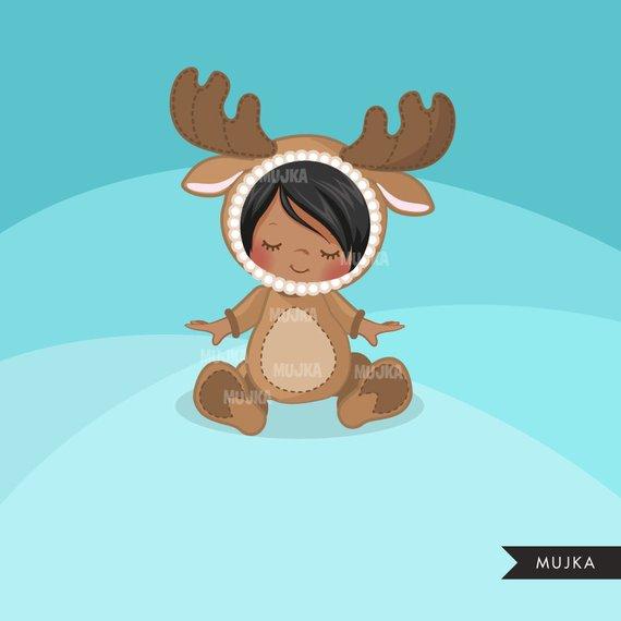 Moose baby shower graphics. Clipart reindeer reindeer costume