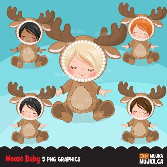 Clipart reindeer reindeer costume. Moose baby shower graphics
