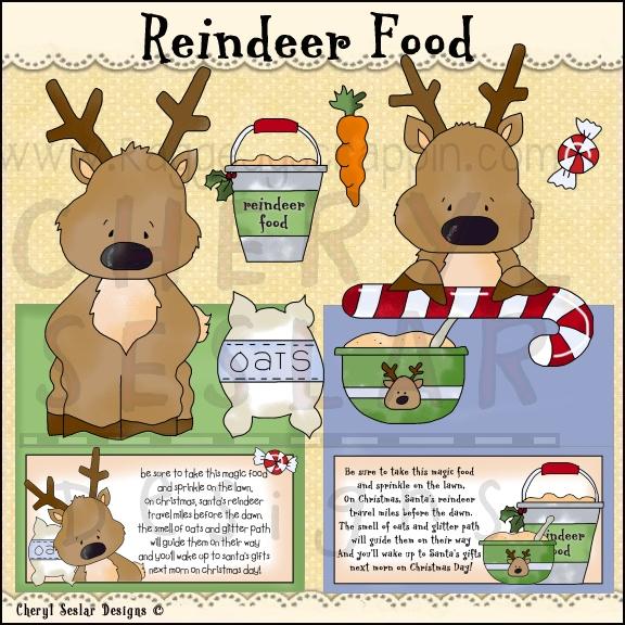 Station . Clipart reindeer reindeer food