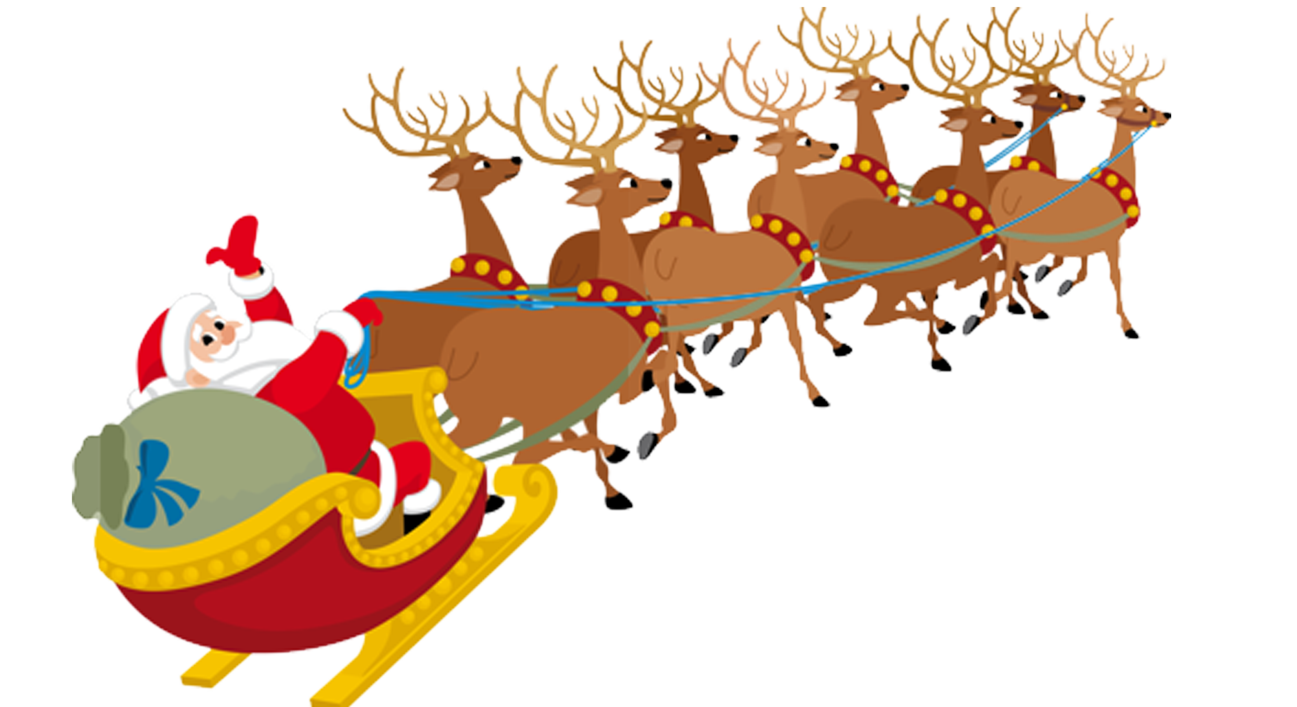 Santa claus clauss reindeer. India clipart village
