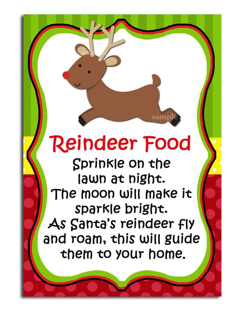 Clipart reindeer reindeer food. Printable labels instant download