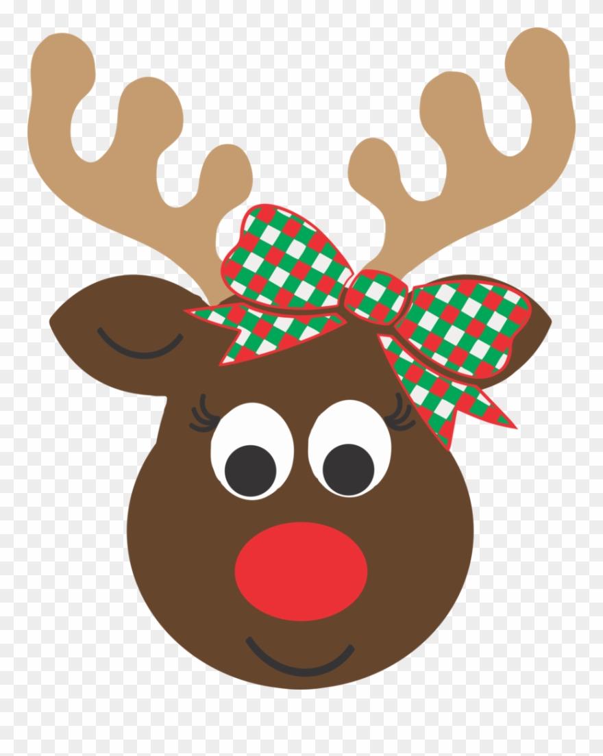 Girl cartoon . Clipart reindeer reindeer head