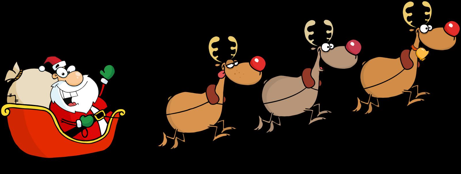 With santa png reindeerwithsantapng. Clipart reindeer reinder