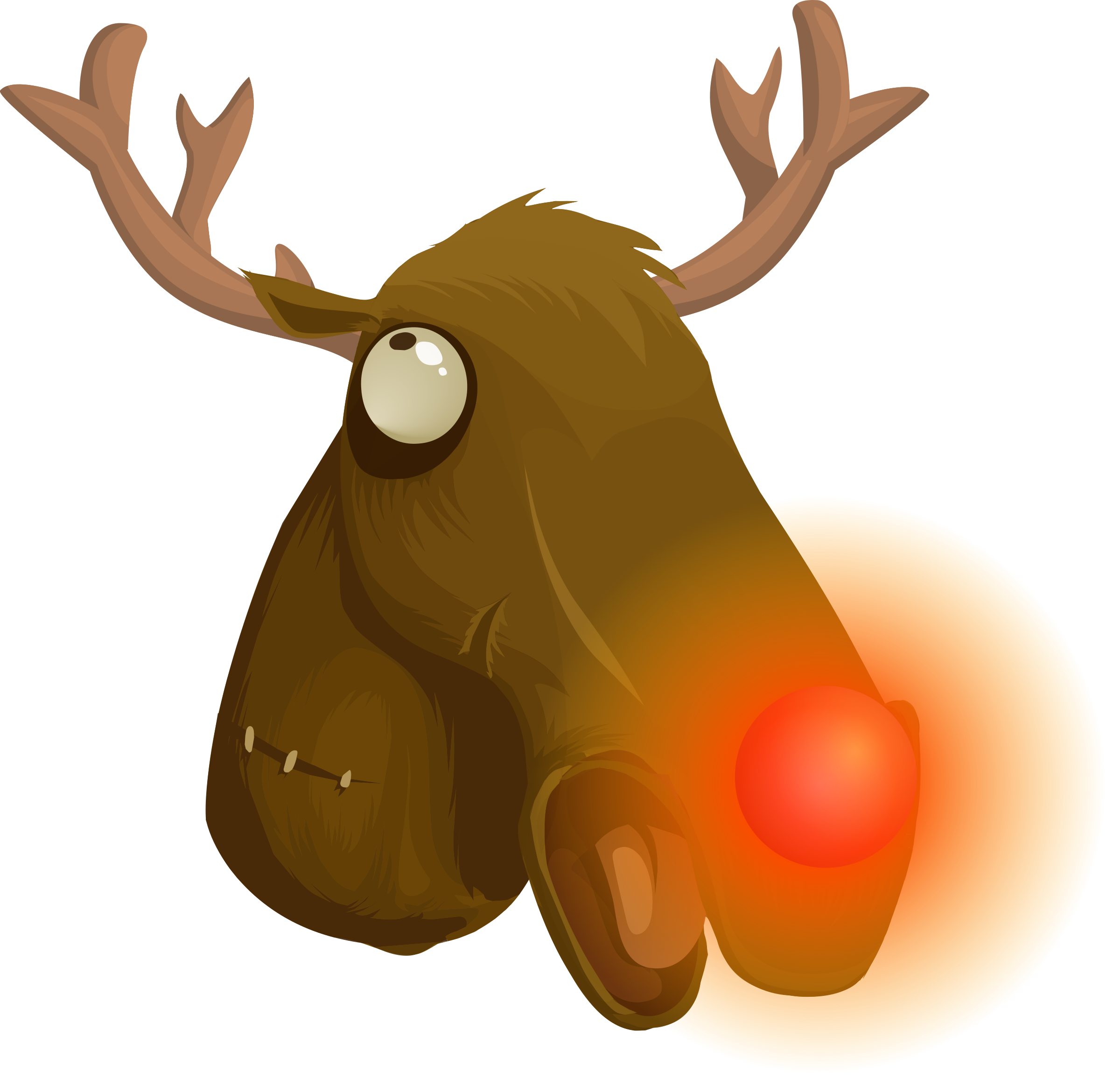 Wacky rudolf big image. Wednesday clipart whacky