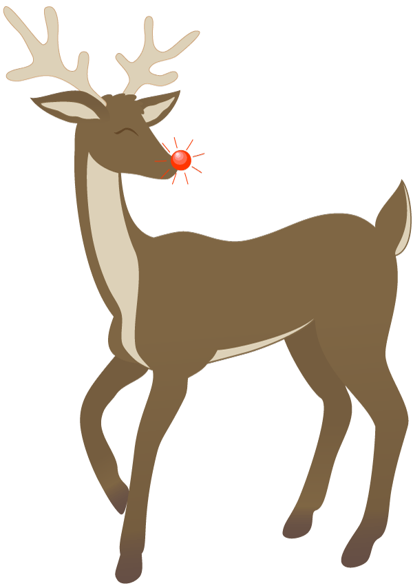 Clipart reindeer rudolph. Christmas greetings st joseph
