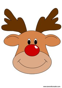 Clipart reindeer rudolph. The red nosed snowjet