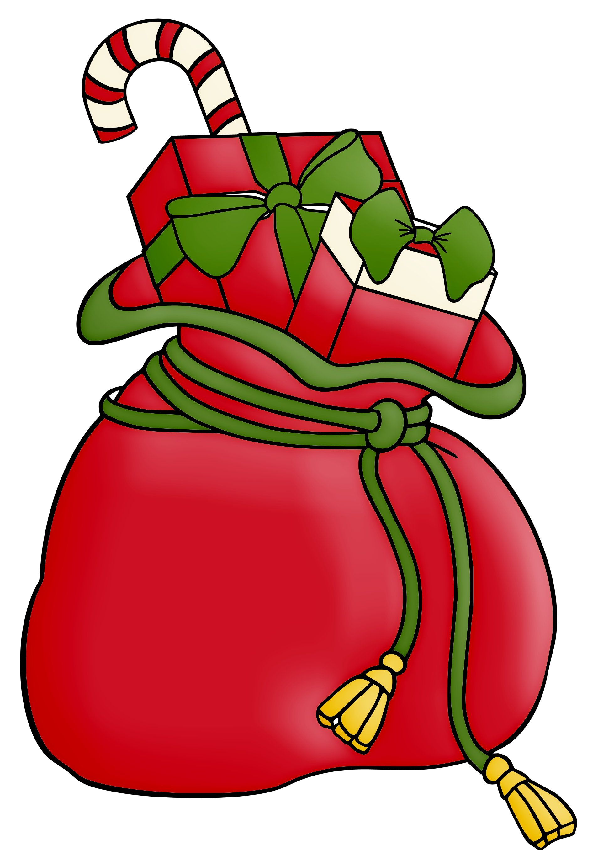 Number 1 clipart christmas. Sack clip art