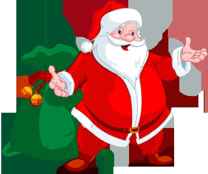 clipart santa happy