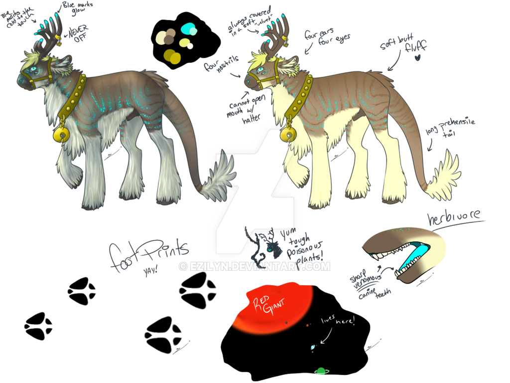 Alien fursona by ezilyn. Clipart reindeer sad