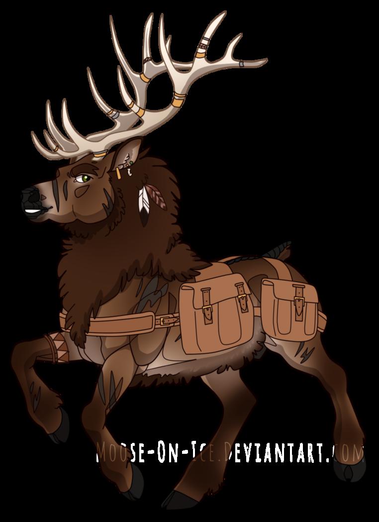 Ota boy by on. Moose clipart elk