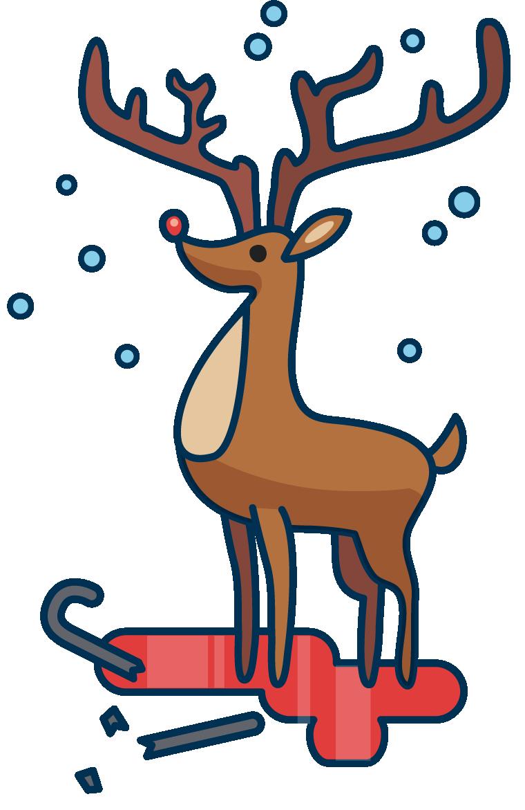Grandma got run over. Clipart reindeer sad