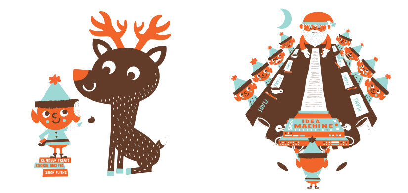 About santa . Clipart reindeer sad