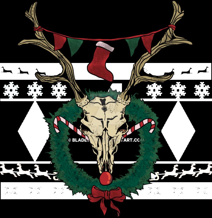 Clipart reindeer sad. Skull by bladeclone on