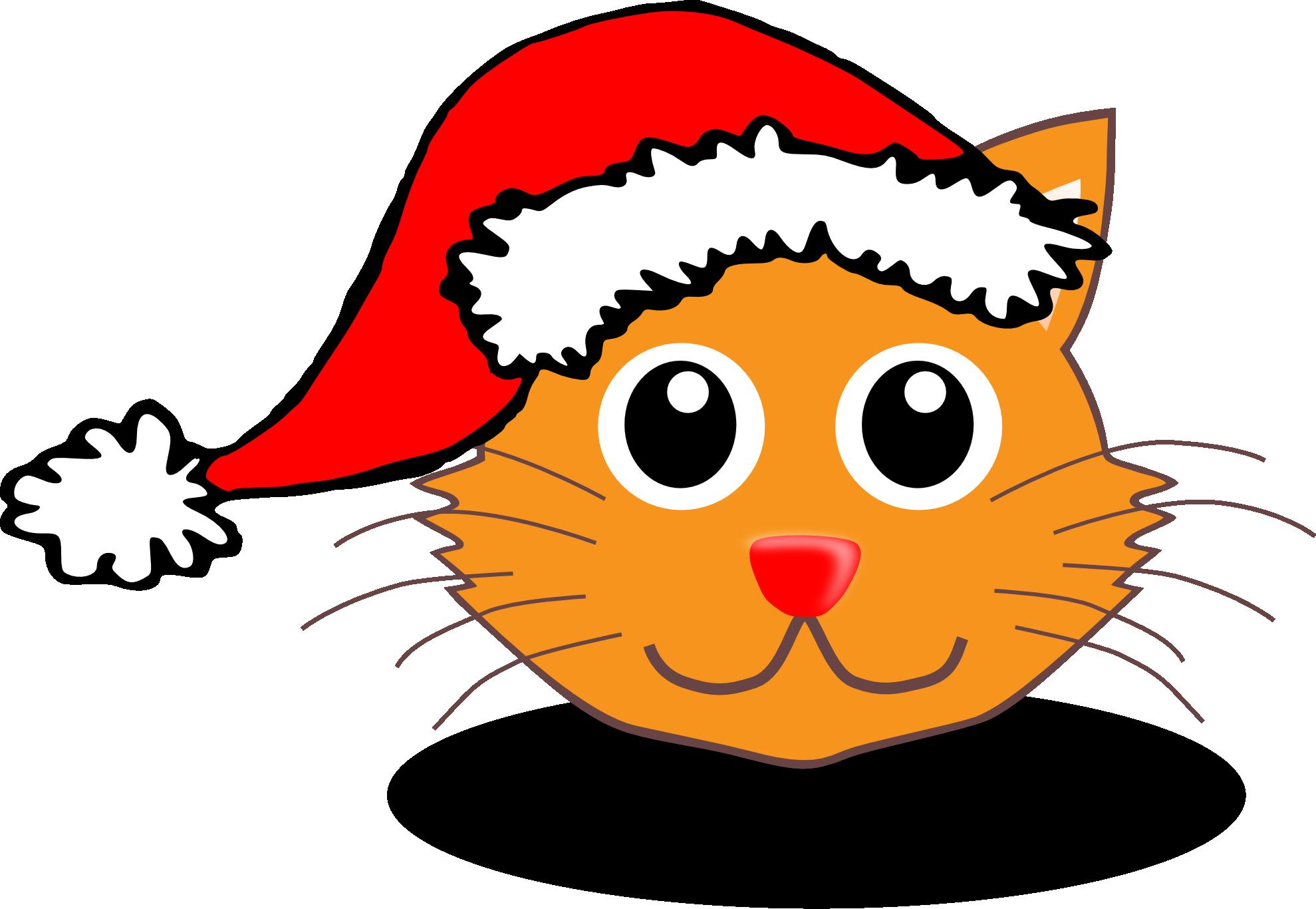 Clipart reindeer santa hat. Free cartoon christmas download