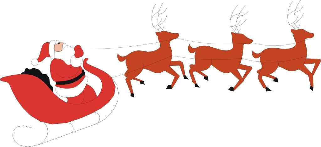 Free santa reindeer cliparts. Sleigh clipart jpeg