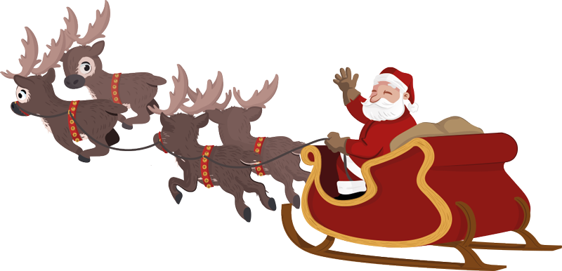 Sleigh clipart sled. Santa and group claus