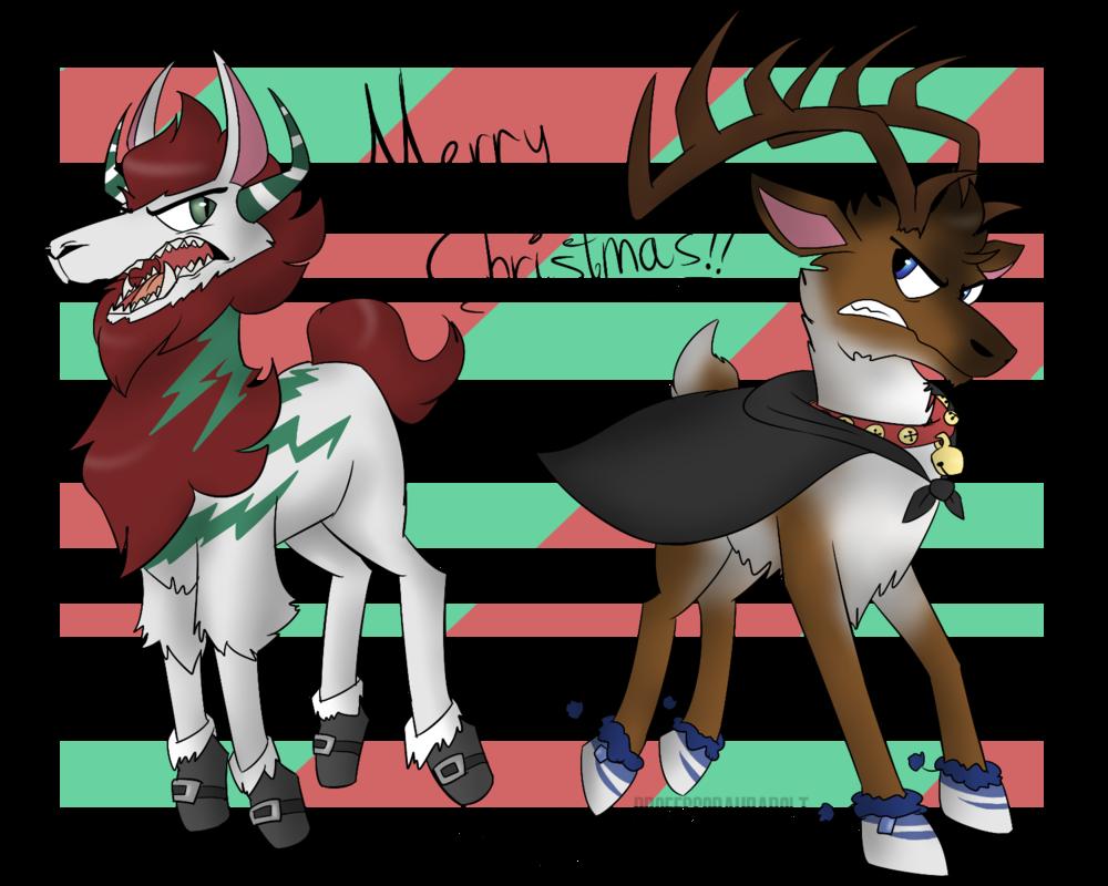 Animal jam by professoraurabolt. Deer clipart merry christmas