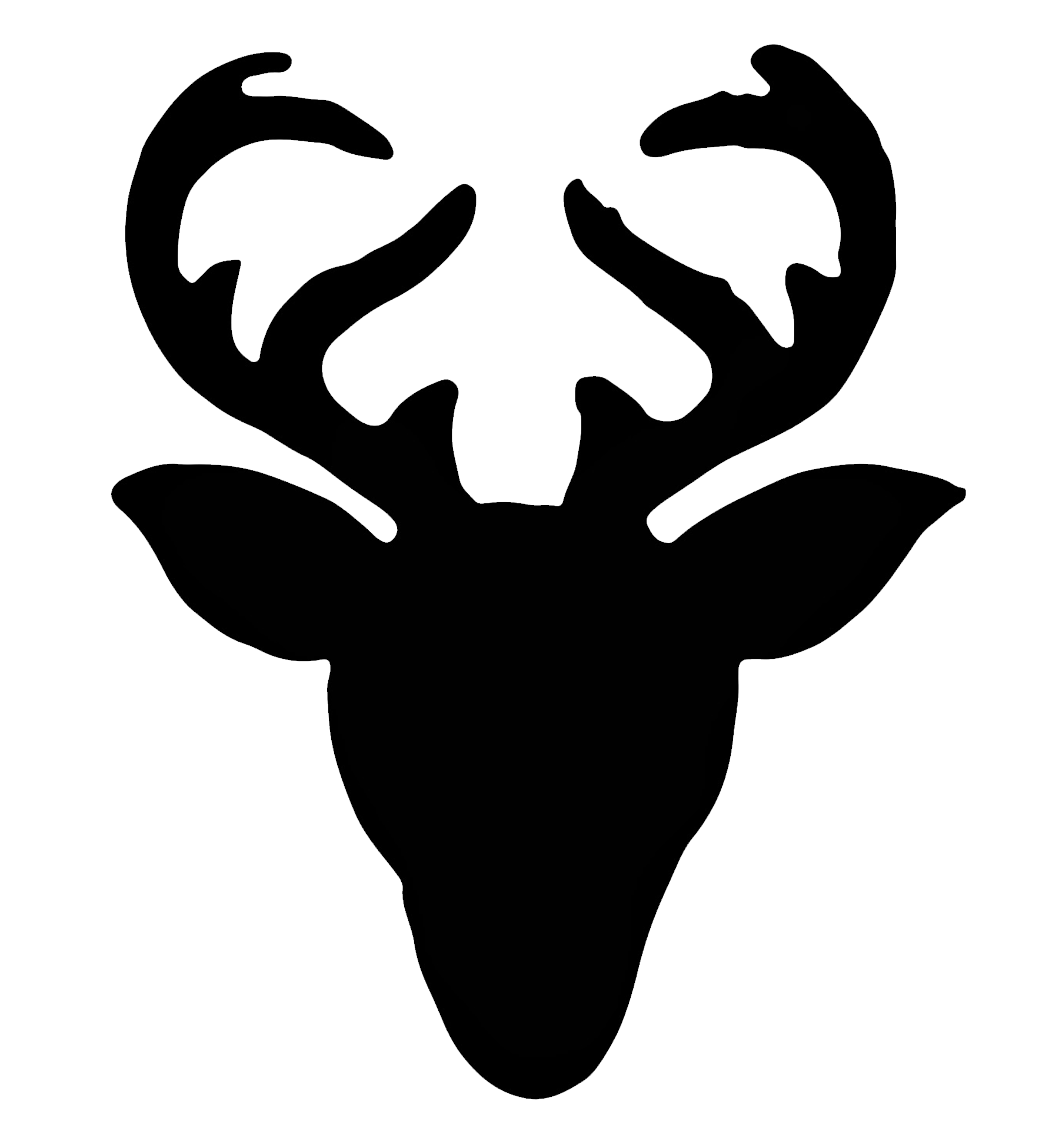 Reindeer sign pinterest silhouette. Hunting clipart deer head