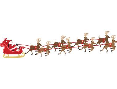 Free santa cliparts download. Clipart reindeer sleigh