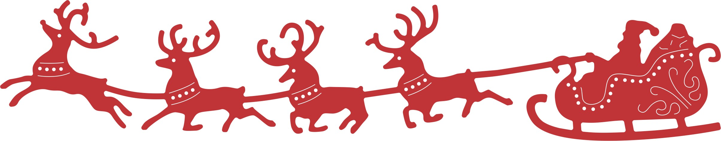Clipart reindeer sleigh. Free santa cliparts download