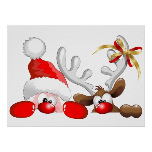 Clipart reindeer small reindeer. Funny santa and cartoon