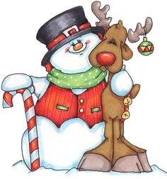 Clipart reindeer snowman. Free cliparts download clip