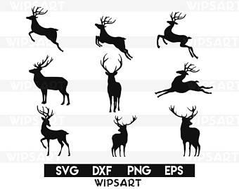 Clipart reindeer svg. Etsy