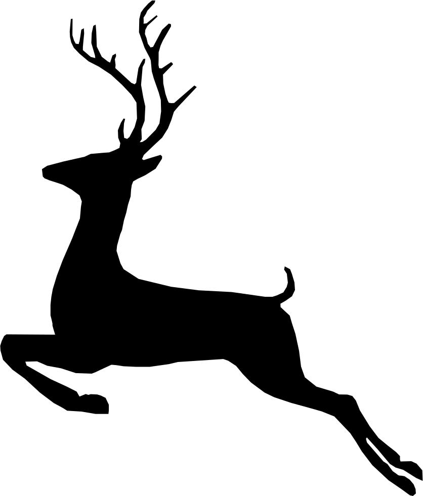 Deer png icon free. Clipart reindeer svg