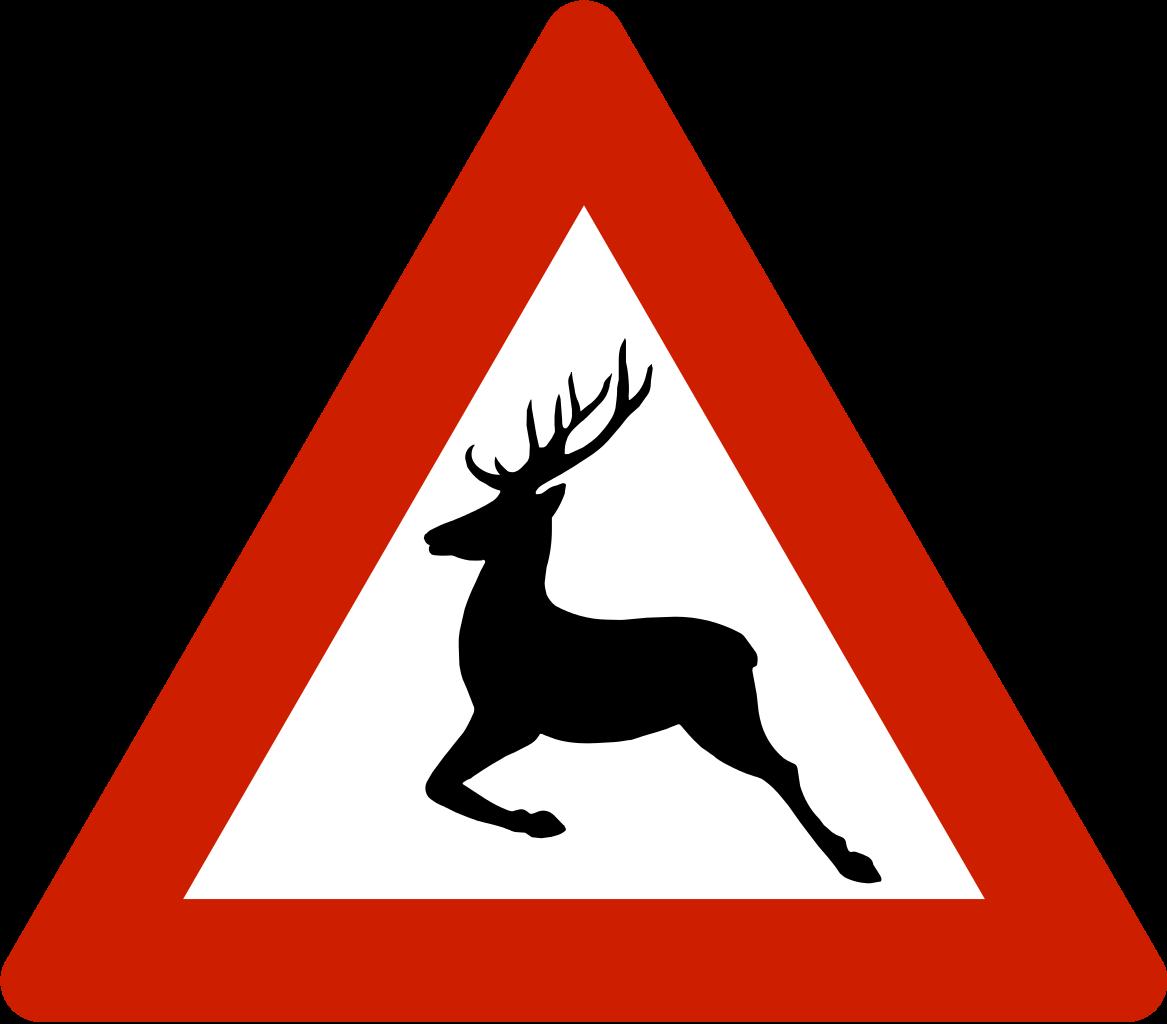 File norwegian road sign. Clipart reindeer svg