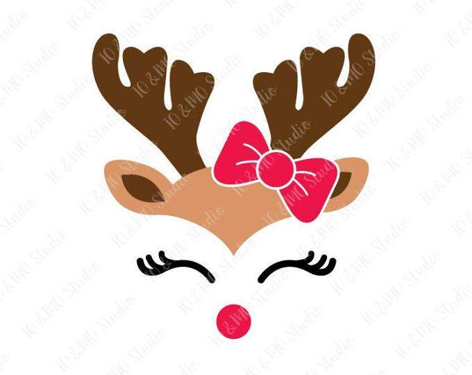 Head clip art . Clipart reindeer svg