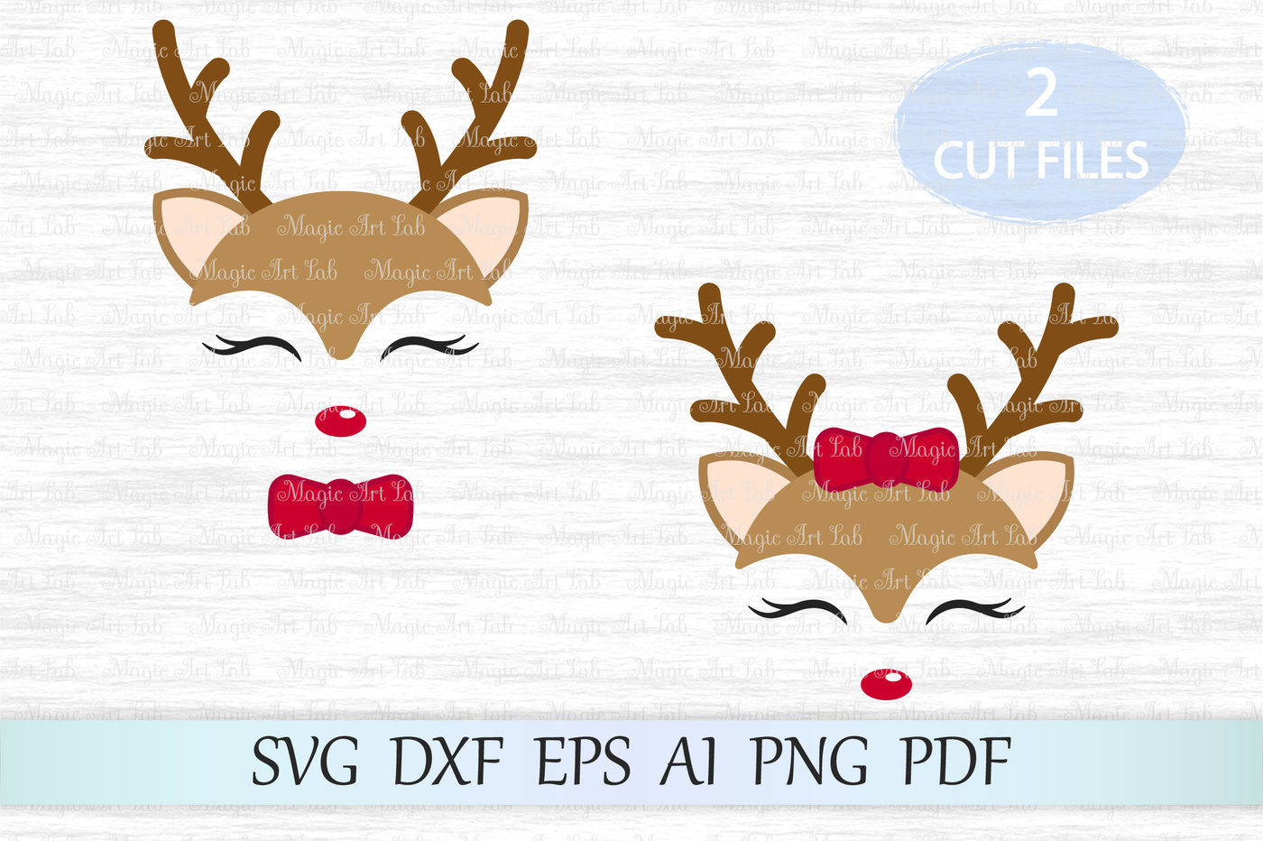 Cut file christmas . Clipart reindeer svg