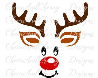 Etsy . Clipart reindeer svg