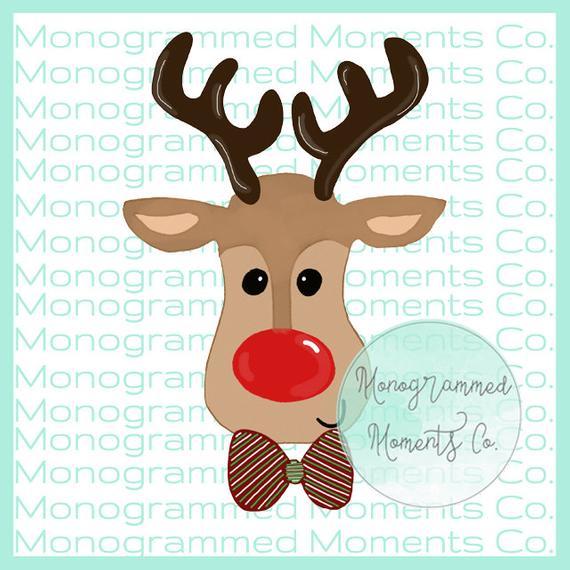Christmas watercolor boy rudolph. Clipart reindeer toddler