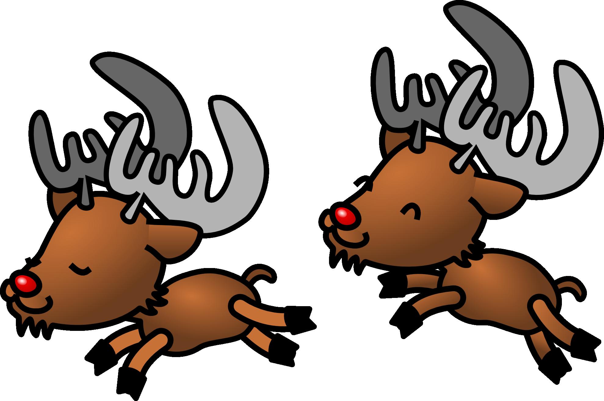 Clipartist net clip art. Clipart reindeer two