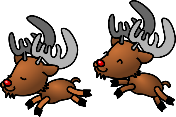Cartoon clip art at. Clipart reindeer two